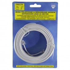 Silver 20 Metre Extension Lead