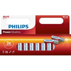 Philips Pack of 12 AA Batteries-LR6