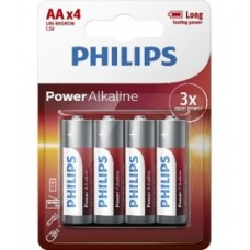 Philips Pack of 4 AA Batteries -LR6