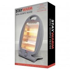 StayWarm 800w 2 Bar Quartz Heater - Grey