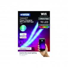 Status 3 Metre LED RGB Light Strip with Wi-Fi Control
