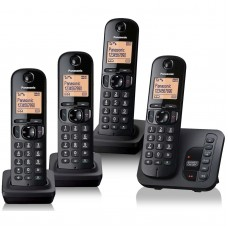 Panasonic KX TGC 224 Quad DECT Phones with Call Blocking & Answering Machine