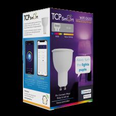 TCP Smart WiFi LED RGBW 2700K GU10 spot light